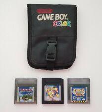Official OEM Nintendo Gameboy Color Carrying Case w 3 Gameboy Games
