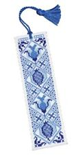 Delft Blue Cross Stitch Bookmark Kit From Textile Heritage