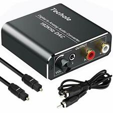 DAC Converter 192KHz,Techole Upgraded Digital to Analog Audio Converter with