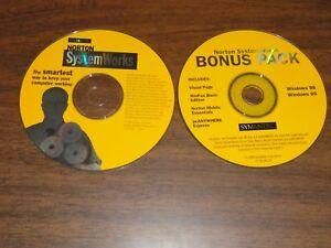 1998 NORTON SYSTEM WORKS AND BONUS PACK BY SYMANTEC - HARD TO FIND DISKS