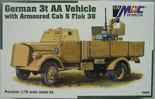 German Armored Truck With Flak 38, MAC , 1:72, Plastic, New