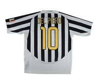 Juventus 2003-04 Authentic Home Shirt Del Piero #10 (Excellent) XL Soccer Jersey