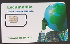 Lycamobile Sim Card Portugal 3 in 1 Prepaid - Pay as you go