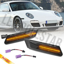Smoke Lens Sequential LED Side Marker Light for 05-12 Porsche 997 Cayman Boxster