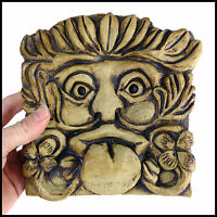 Lucky Clover Gargoyle Plaque by Zoo Ceramics for Interior and Exterior Display