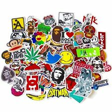 100 x Assorted Vinyl Decal Stickers for Laptop Skateboard Snowboard Suitcase Car