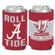 ALABAMA CRIMSON TIDE 2017 NATIONAL CHAMPIONS NEOPRENE CAN COOZIE KOOZIE COOLER