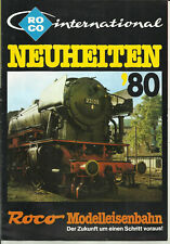 Katalog Roco Neuheiten 1980 Modellbahnen in HO 1:87 N