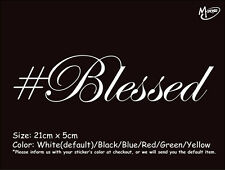 #BLESSED Reflective Car  Truck Boat sticker best gift-