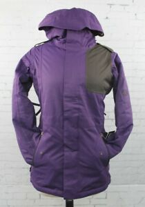 686 Women Authentic 4Eva-After Snowboard Jacket Small Violet Diamond Dobby New