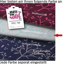 Hamburger Liebe Tree Top - cremeweiß helles mint; Bio Jacquard Jersey