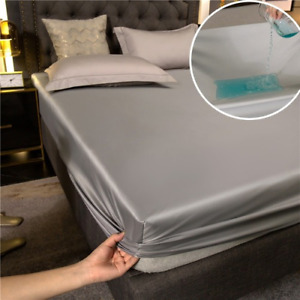 1pc Waterproof Fitted  Sheet Mattress Cover All-Around Elastic Rubber Bed Sheet