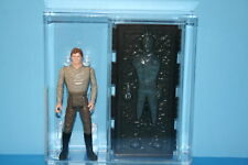 VINTAGE STAR WARS AFA GRADED HAN SOLO CARBONITE 85 NM+ 85 NO COO FIGURES WEAPON