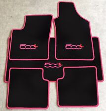 Autoteppich Fußmatten Kofferraum Set für Fiat 500L ab 2012' pink rot 5tlg. Neu