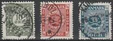 Denemarken gestempeld 1926 used 153-155 - Postzegels 75 Jaar