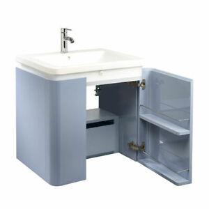 Waterfront 650mm LED vanity unit inc. 1 Tap Hole basin - Gloss Blue £400