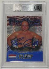 Bas Rutten Signed 2012 Topps Finest UFC Bloodlines X-Fractors Card Beckett COA