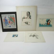 5x Art Prints by Thos. A. Godfrey Signed Various Styles Card Mounted Lot B