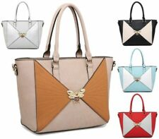 Faux Leather Gold Large Bags & Handbags for Women