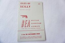 More details for oct 1948 bea isles of scilly airline timetable schedule