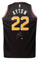 DEANDRE AYTON Autographed Phoenix Suns Black Statement Edition Jersey STEINER