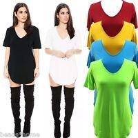 Summer New Women Fashion Sexy Mini T shirt Dress Short Sleeve V Neck Casual Tops