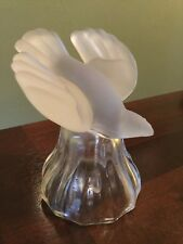 Frosted Dove Bell Bird Handle Dinner Bell Crystal Wedding Glass