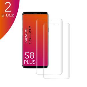 2X für Samsung Galaxy S8 PLUS Panzerfolie Hartglas 3D Curved Displayschutz CLEAR
