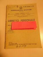 ANTICO LIBRETTO PERSONALE AERONAUTICA MILITARE vintage COLLEZIONE 1959