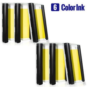 6 Pack Color Ink Compatible for Canon Selphy KP-108IN Selphy CP1300 CP1200 CP910