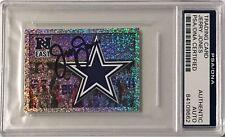 2013 Panini Jerry Jones Dallas Cowboys Firmado Auto Pegatina PSA/DNA o (a)