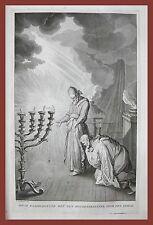 Re Davide e Sommo Sacerdote Ephod Israele incisione Calmet 1725 bible bibbia