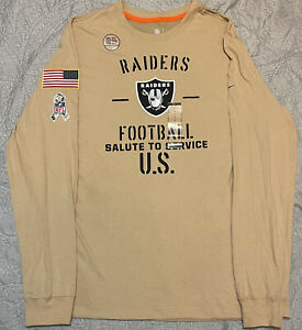 Nike Dri Fit Raiders Official Salute To Service T Shirt Size L AT6088-297