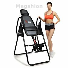 X-MAG Deluxe Inversion Table Back Neck Therapy Pain Exercise Chiropractic Black