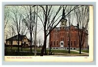 Vintage View of Public School Building, Richwood OH c1910 Postcard L20