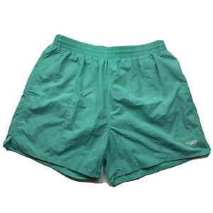 Mens Speedo Size 36 Green Nylon Swim Beach Shorts Drawstring
