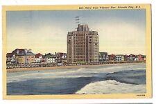 VENTNOR From PIER Adjacent to Atlantic City New Jersey Postcard NJ Linen 1947
