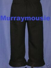 Custom-Made Pull-on PANTS Black Five Star TREK Clothes COSTUMES Uniform ANYSIZE