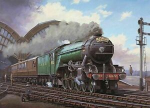 FLYING SCOTSMAN TRAIN CLASSIC WALL COVER 30x20 Inch Canvas Framed READY TO HANG