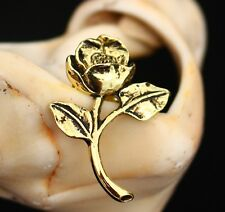 Gold tone wild rose Victorian style pin   BROOCH