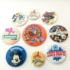 Lot of 9 Walt Disney's Vtg 1987 Buttons Badges Disneyland Huge To Small in Size