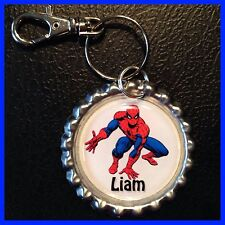 Personalized AMAZING SPIDERMAN Bottle Cap,KeyChain or Zipper Pull For Backpack
