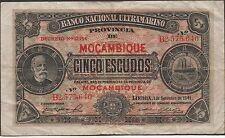 Mozambique , 5 Escudos , 1.9.1941 , P 83 , prefix B Circulated Banknote