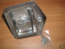 NEW Pair of Stainless Recessed T handle lock, with keys