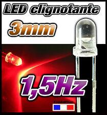 245# LED 3mm rouge clignotante lot de 10