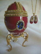 Wizard of Oz Musical Egg & Faberge Ruby Slippers Necklace plays Over the Rainbow