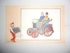ANCIENNE IMAGE VOIR ET SAVOIR 1955 / TINTIN AUTOMOBILE SERIE 9 N°40