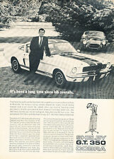 1966 Carroll Shelby GT350 Classic Advertisement Ad A1B