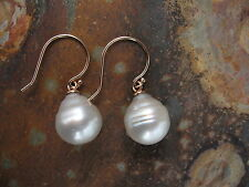 14KT ROSE Gold & Paspaley South Sea Pearl Earring Shepard Hook......... NEW
