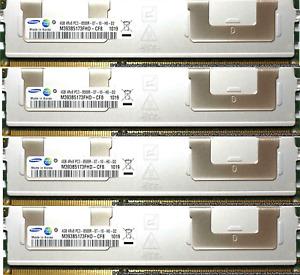 32GB 8X4GB 4RX8 PC3-8500R Memory RAM DDR3 Dell PowerEdge R910  T310  T410  T610